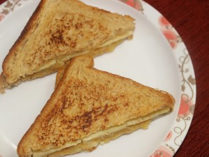 Potato and cheese sandwich