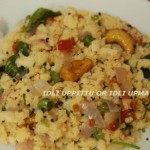 Idli uppittu or idli upma recipe