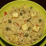 Peas and paneer pulao