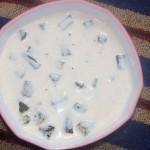 Bendekai raita or bhindi raita
