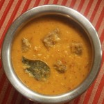 Suvarnagadde huli (sambar) or yam curry