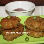 Potato peas cutlet recipe