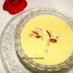 Badam kheer or almond pudding recipe