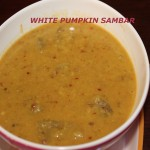 White pumpkin huli or white pumpkin sambar recipe