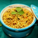Methi pulao or methi rice