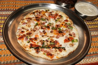 Onion tomato uttapam recipe – breakfast recipes | CHARUS ...