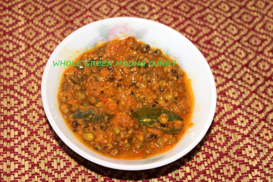 whole green moong curry
