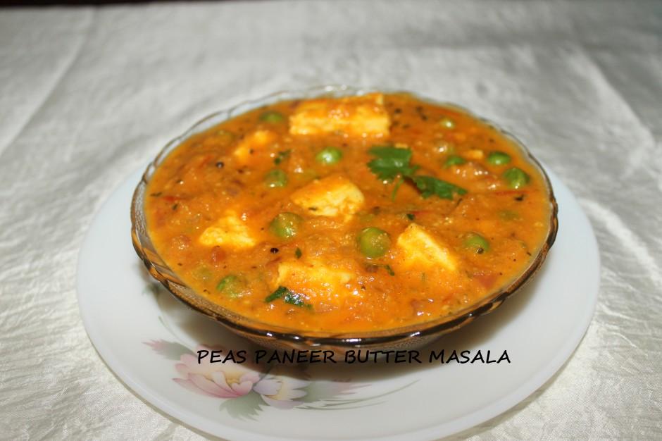 peas paneer butter masala