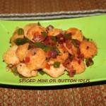 Spiced mini or button idlis