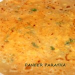 Cottage cheese or paneer paratha