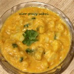 Aloo or potato gravy subzi