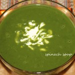 Spinach or palak soup recipe