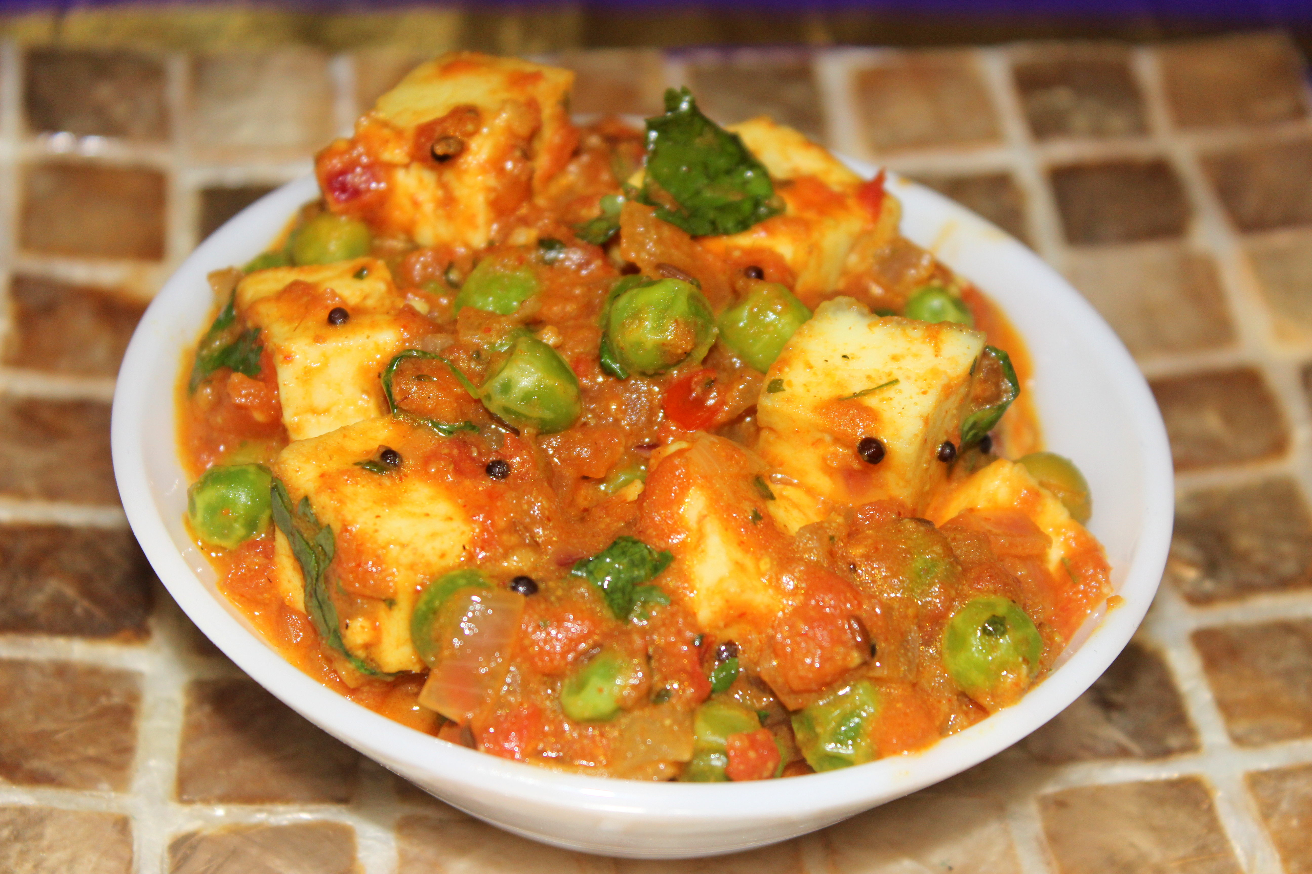 Mutter or matar paneer recipe | CHARUS CUISINE
