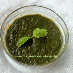 Mint or pudina chutney recipe