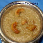 Oats kheer with jaggery recipe