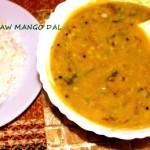 Raw mango dal recipe