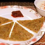 Matar (green peas) paratha recipe