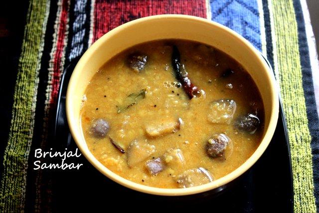 Brinjal sambar recipeQuick and easy sambar recipe CHARUS CUISINE