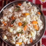Vegetable rice  or how to make mixed vegetable rice recipe