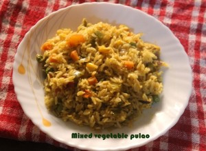 mixed vegetable pula
