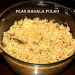 Green peas masala pulao (microwave recipe)