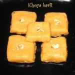 Khoya burfi or how to make mawa burfi/barfi recipe