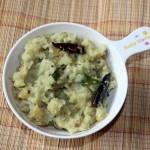 Raw banana thoran or raw banana curry recipe