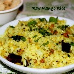 Raw Mango Rice or Mavinakaya chitranna recipe