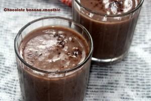chcolate banana smoothie