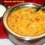 Masala dal khichdi (with rice and moong dal) recipe