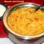 Masala dal khichdi (with rice and moong dal) recipe