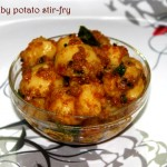 Small potato fry or baby potato fry recipe – side dish for rotis