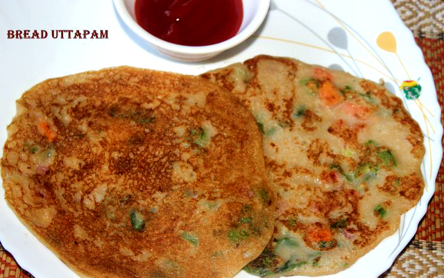Instant bread uttapamuthapam recipe breakfast recipe charus cuisine bread uthapam is an instant uthapam recipe made with indian bread it is a popular south indian dish which can be had as a breakfast or as a snack forumfinder Image collections