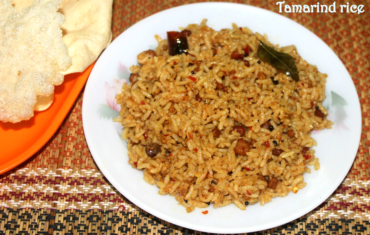 Tamarind rice recipe – How to make tamarind rice or puliyodharai ...