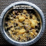 Black chickpeas and potato semi-dry curry (kala chana aur aloo curry) recipe