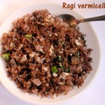 Ragi vermicelli upma – how to make ragi semiya upma recipe – millet recipes