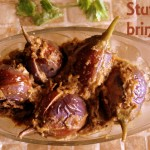 Stuffed baingan/brinjal (eggplants) recipe – How to make stuffed brinjals (bharli vangi) recipe