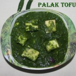 Palak tofu / spinach tofu recipe – How to make tofu in spinach gravy recipe – palak recipes