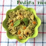 Pudina rice – How to make pudina rice recipe – rice recipes