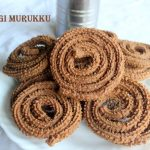 Ragi (finger millet) murukku or chakli recipe – How to make ragi murukku/chakli recipe – ragi recipes