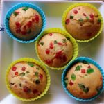 Tutti frutti cup cake recipe – How to make eggless tutti frutti muffins – eggless cake recipes