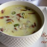 Saffron flavoured rice kheer recipe – How to make saffron rice kheer – rice pudding recipes