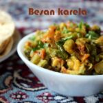 Besan karela subzi recipe – How to make karela besan subzi recipe – side dish for rotis