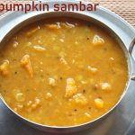 Red pumpkin sambar recipe (poosanikai sambar) – How to make red pumpkin sambar recipe