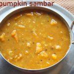 Red pumpkin sambar recipe (poosanikai sambar) – How to make red pumpkin sambar recipe