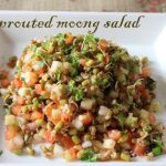 Sprouted green moong salad recipe – How to make healthy green moong sprouts salad/ sprouted green moong salad recipe – healthy recipes