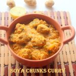 Soya chunks curry recipe – How to make soya chunks curry recipe – side dish for rotis