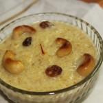 Godi payasa or broken wheat kheer or dalia kheer