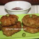 Potato peas cutlet recipe