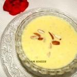 Badam kheer or almond pudding recipe